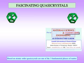 FASCINATING QUASICRYSTALS