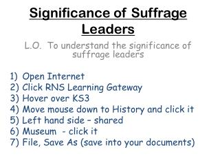 Significance of Suffrage Leaders