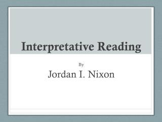Interpretative Reading
