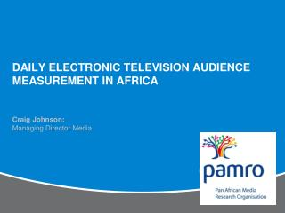 Daily Electronic Television Audience Measurement in Africa