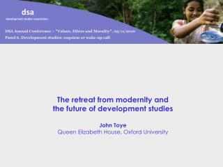 "DSA Annual Conference – ""Values, Ethics and Morality"", 05/11/2010"