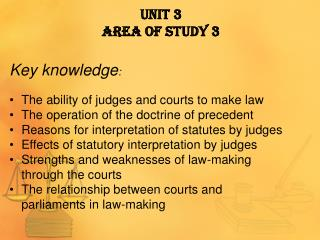 Unit  3  Area  of Study 3