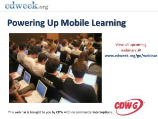 Powering Up Mobile Learning