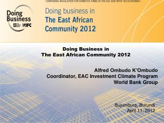 Doing Business in The East African Community 2012