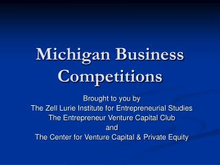 Michigan Business Competitions