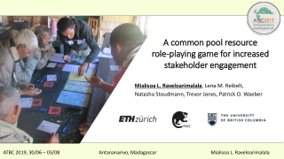 A common pool resource role-playing game for increased stakeholder engagement