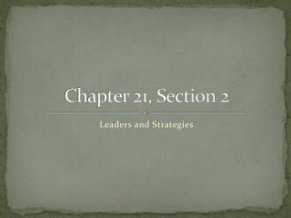 Chapter 21, Section 2
