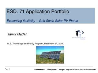 Tanvir Madan M.S. Technology and Policy Program, December 9 th , 2011.