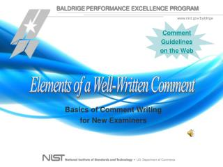 Elements of a Well-Written Comment