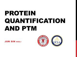 Protein quantification and PTM