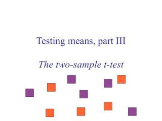 Testing means, part III The two-sample t-test