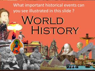 What important historical events can you see illustrated in this slide ?
