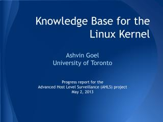 Knowledge Base for the Linux Kernel