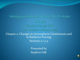 Intergovernmental Panel On Climate Change Climate Change 2007 The Physical Science Basis