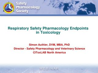 Respiratory Safety Pharmacology Endpoints in Toxicology