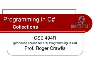 Programming in C# Collections