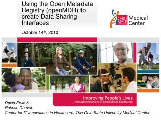Using the Open Metadata Registry ( openMDR ) to create Data Sharing Interfaces