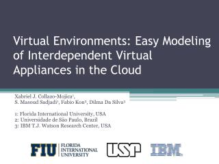 Virtual Environments: Easy Modeling of Interdependent Virtual Appliances in the Cloud