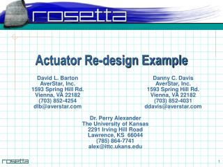 Actuator Re-design Example