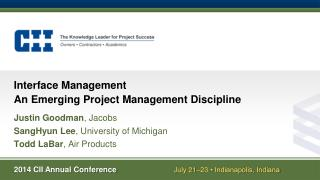 Interface Management An  Emerging Project Management Discipline