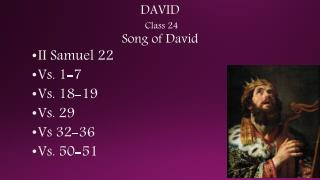 DAVID Class 24   Song of David