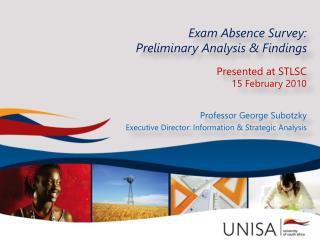 Exam Absence Survey: Preliminary Analysis & Findings Presented  at  STLSC 15 February 2010