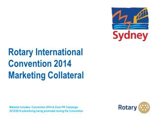 Rotary International Convention 2014 Marketing Collateral
