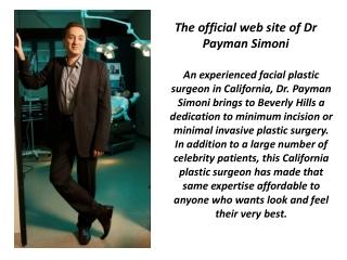 Dr Payman Simoni - The Best Plastic Surgeon