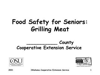 Food Safety for Seniors: Grilling Meat