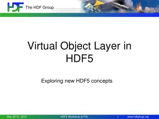 Virtual Object Layer in HDF5