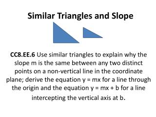 Similar Triangles and Slope