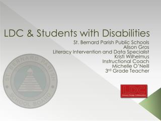 LDC & Students with Disabilities