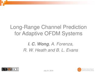 Long-Range Channel Prediction for Adaptive OFDM Systems