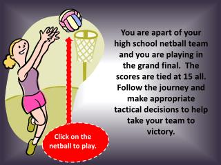 Click on the netball to play.