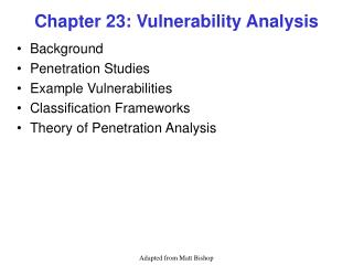 Chapter 23: Vulnerability Analysis
