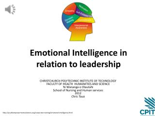 Emotional Intelligence in relation to leadership