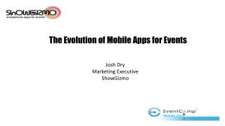 The Evolution of Mobile Apps for Events