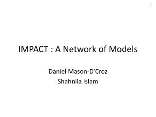 IMPACT : A Network of Models