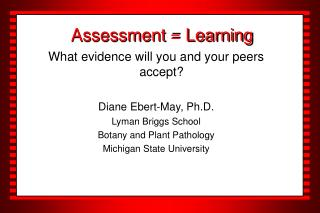 Assessment = Learning
