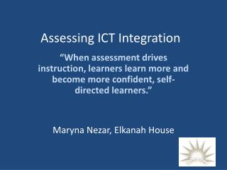Assessing ICT Integration