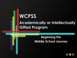 WCPSS Academically or Intellectually Gifted Program