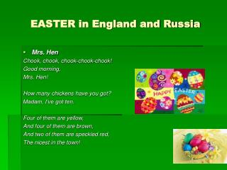 EASTER in England and Russia