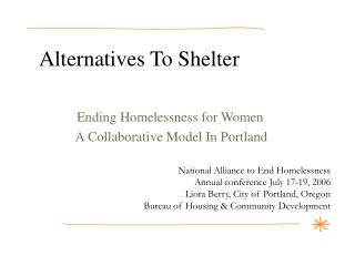 Alternatives To Shelter