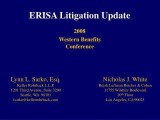 ERISA Litigation Update