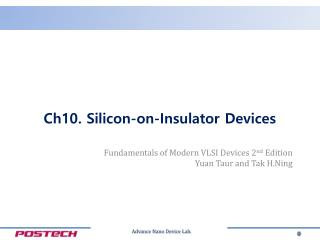 Ch10.  Silicon-on-Insulator Devices