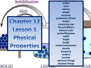 Chapter 12 Lesson 1 Physical Properties