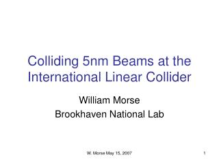 Colliding 5nm Beams at the International Linear Collider
