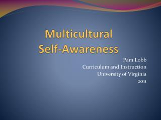 Multicultural Self-Awareness