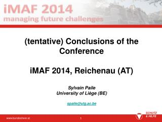 Before the iMAF ... The situation No strong legal basis for cooperation between institutes