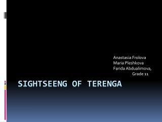 Sightseeng  of  Terenga